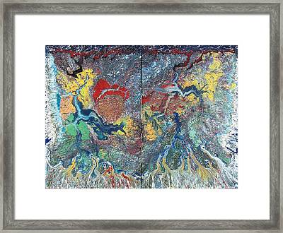 Colliding Galaxies Framed Print