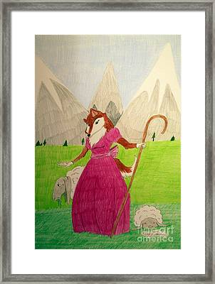 Collie Bo Peep Framed Print by Wendy Coulson