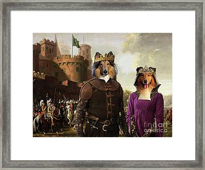 Collie Rough Canvas Print - The Enchanted Forest Framed Print