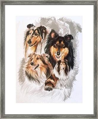 Collie W/ghost Framed Print by Barbara Keith