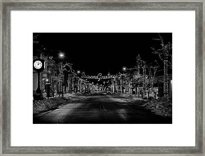 Collingswood Christmas Framed Print
