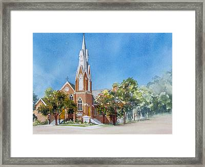 Collingwood-church Framed Print by Nancy Newman