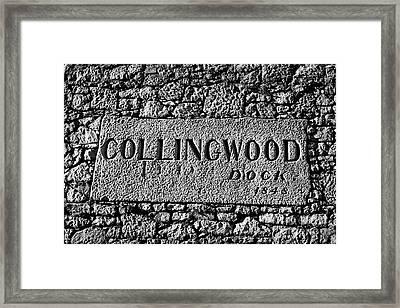 Collingwood Dock Nameplate In The Wall Liverpool Docks Dockland Uk Framed Print