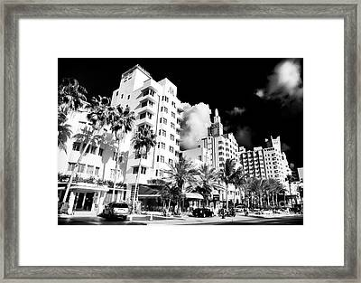 Collins Avenue Framed Print