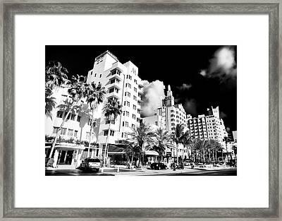 Collins Avenue Framed Print