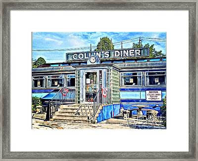 Collin's Diner New Canaan,conn Framed Print