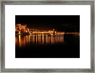 Collioure At Night Framed Print
