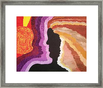 Framed Print featuring the painting Collision by Carolyn Cable