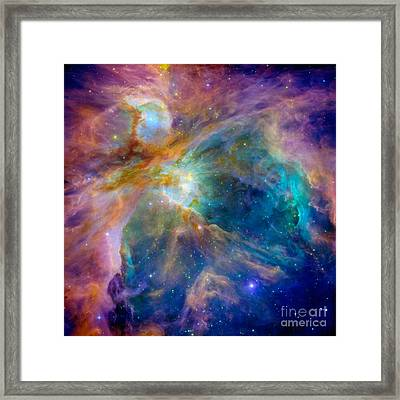 Collision Of Color Framed Print by Jon Neidert