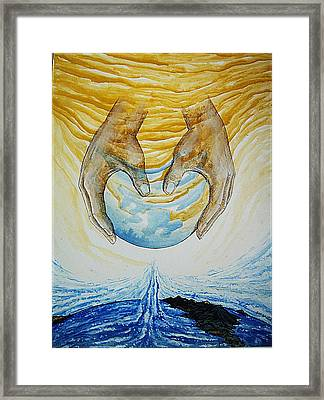 Collision Of Worlds Framed Print by Paulo Zerbato