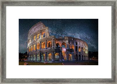 Colloseum Under The Stars Framed Print by Brent Shavnore
