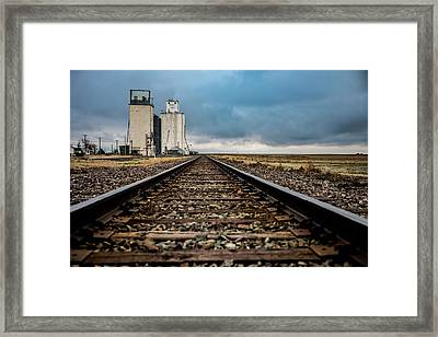 Framed Print featuring the photograph Collyer Tracks by Darren White