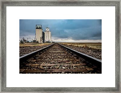 Collyer Tracks Framed Print