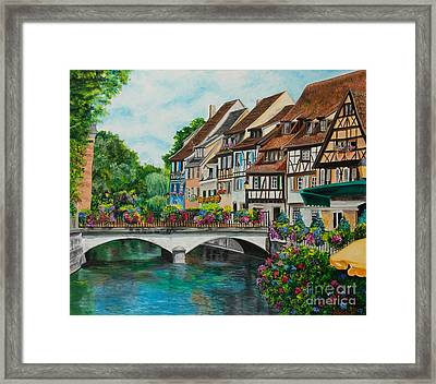 Colmar In Full Bloom Framed Print by Charlotte Blanchard