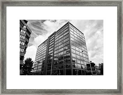 colmore plaza office development in new financial area of Birmingham UK Framed Print by Joe Fox