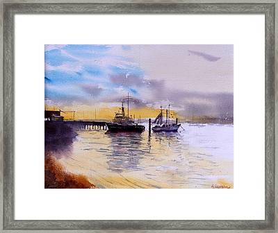 Colmslie Beach Brisbane - Winter Light Framed Print