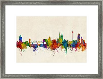 Cologne Germany Skyline Framed Print