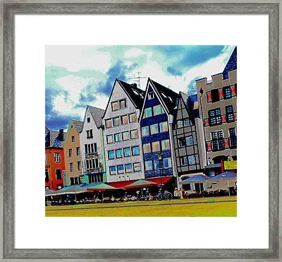 Cologne On The Rhine Framed Print