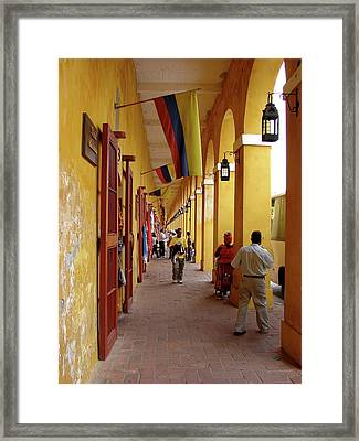 Colombia Walkway Framed Print