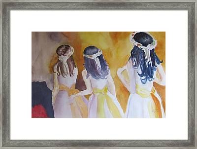 Colombian Wedding Party Two Framed Print