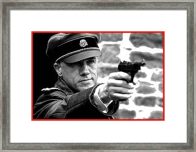 Colonel Hans Landa  Christoph Waltz Publicity Photo  Inglourious Basterds 2009 Framed Print by David Lee Guss
