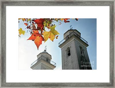 Framed Print featuring the photograph Colonia Del Sacramento Church by Bernardo Galmarini