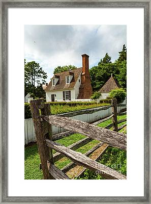 Colonial America Home Framed Print