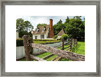 Colonial America House Framed Print