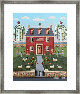 Colonial By The Sea Framed Print