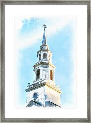 Colonial Church Concord Framed Print by Edward Fielding