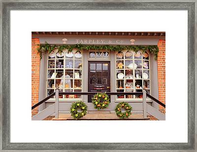 Colonial Commerce Framed Print
