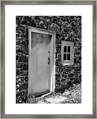 Colonial Entry Framed Print by Kathi Isserman