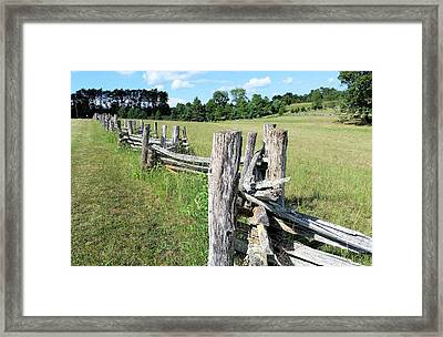 Colonial Fence At The Home Of Booker T Washington Framed Print