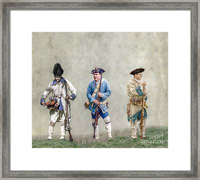 Colonial French Soldier Review Framed Print