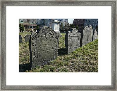 Colonial Graves At Phipps Street Framed Print