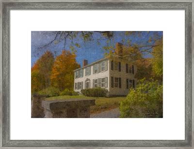 Colonial House On Main Street, Easton Framed Print