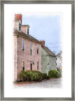 Colonial Houses Of Portsmouth New Hampshire Framed Print