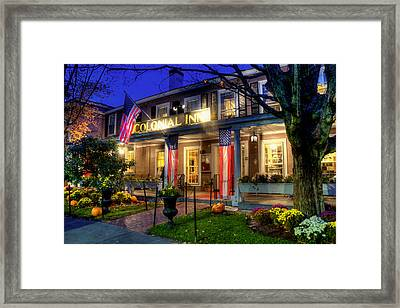Colonial Inn Concord Ma -historic Sites Framed Print by Joann Vitali