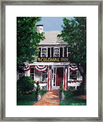 Colonial Inn Framed Print