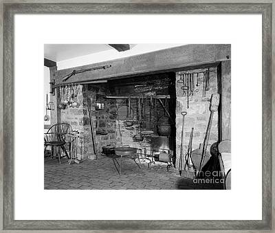 Colonial Kitchen, 18th Century Framed Print by H. Armstrong Roberts/ClassicStock