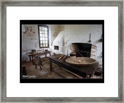 Colonial Kitchen Framed Print by Mark Currier