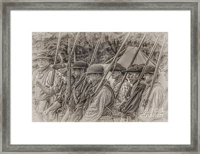 Colonial Militia Soldiers Framed Print