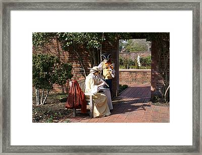 Colonial Music At Tryon Palace Framed Print by Rodger Whitney