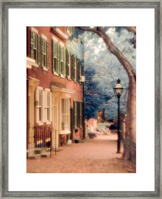 Colonial Old New Castle Framed Print