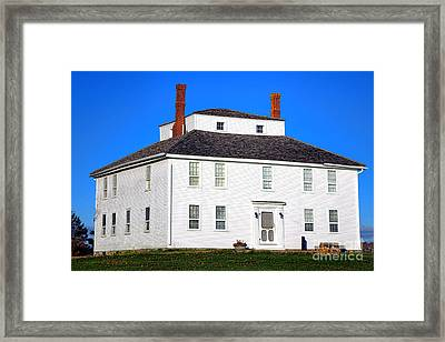 Colonial Pemaquid Fort House Framed Print