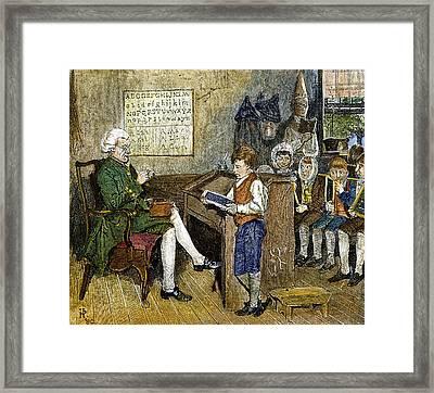 Colonial Schoolmaster Framed Print by Granger
