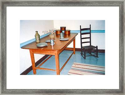 Colonial Table Framed Print by Andrea Simon