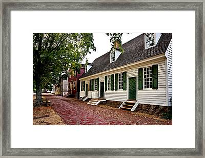 Colonial Times Framed Print by Christopher Holmes