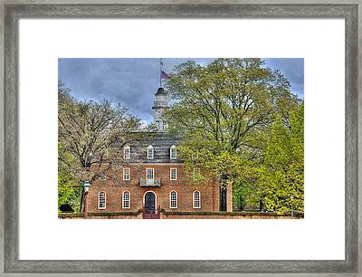 Colonial Williamsburg Capital Framed Print by Todd Hostetter