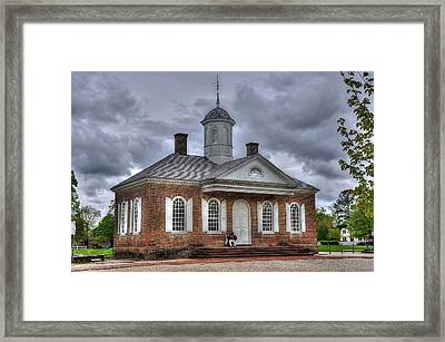 Colonial Williamsburg Court House Framed Print by Todd Hostetter